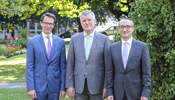 The newly formed Management Board of the Zumtobel Group: Thomas Tschol (CFO), Alfred Felder (CEO) und Bernard Motzko (COO).