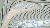 The lighting concept at the new mega airport is based on indirect lighting.